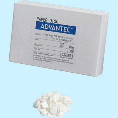Advantec Paper Disc for Antibiotic Assay Thin 6 mm Cat. 49005040