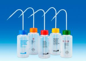 Vitlab 1352969 VITsafe™ safety wash bottles Vol 500 ml for Acetonitrile
