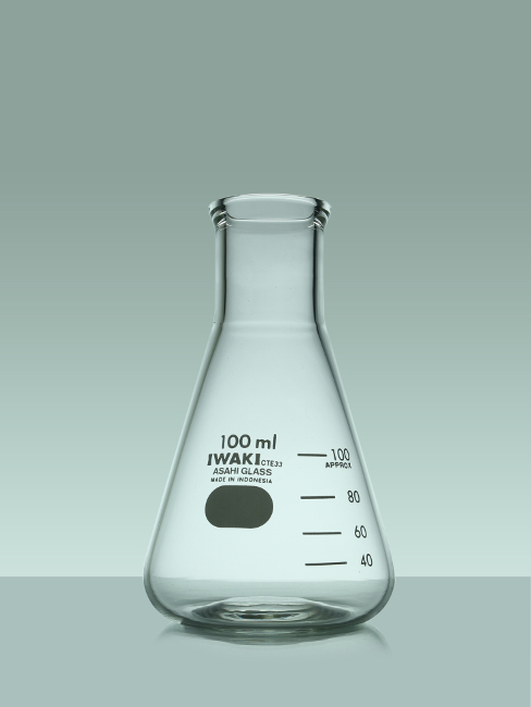 Iwaki 4980FK100 Erlenmeyer Flask 100 ml
