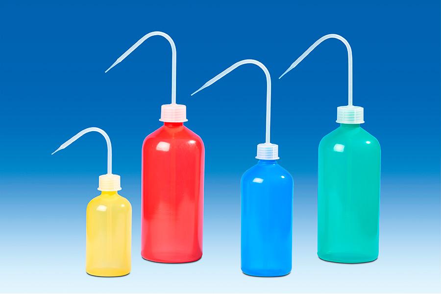 Vitlab 132703 Wash bottles Red PE-LD/PP Vol 500 ml