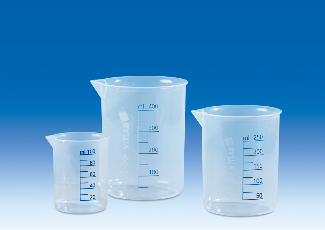 Vitlab 608081 Griffin beakers PP Vol 100 ml