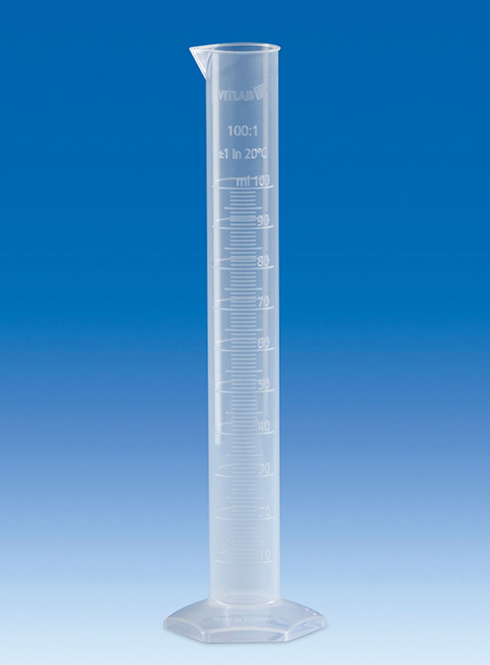 Vitlab 649941 Measuring Cylinder PP Class B Vol 100 ml