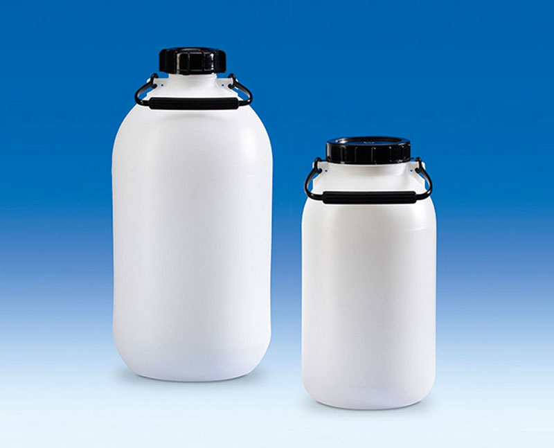 Vitlab 81640 Storage bottles, PE-HD, without tap 5000 ml