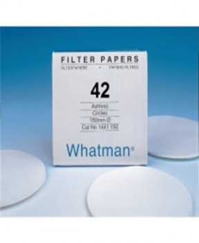 Whatman 1442-090 Grade 42 Circles, 90mm 100/pk