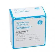 Whatman 7182-002 Membrane Circles, Cellulose Nitrate, White Plain, 0.2µm 25mm 100/pk